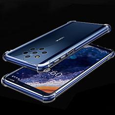 Silikon Schutzhülle Ultra Dünn Tasche Durchsichtig Transparent H01 für Nokia 9 PureView Klar