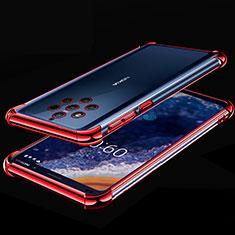 Silikon Schutzhülle Ultra Dünn Tasche Durchsichtig Transparent H01 für Nokia 9 PureView Rot