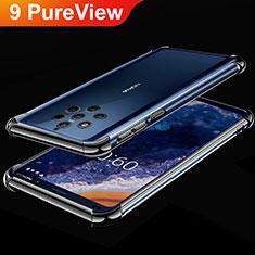 Silikon Schutzhülle Ultra Dünn Tasche Durchsichtig Transparent H01 für Nokia 9 PureView Schwarz