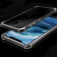 Silikon Schutzhülle Ultra Dünn Tasche Durchsichtig Transparent H01 für Nokia X5 Klar