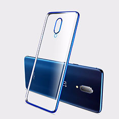 Silikon Schutzhülle Ultra Dünn Tasche Durchsichtig Transparent H01 für OnePlus 7 Blau