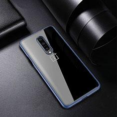 Silikon Schutzhülle Ultra Dünn Tasche Durchsichtig Transparent H01 für OnePlus 7 Pro Blau