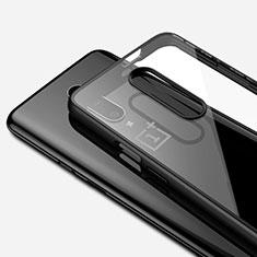 Silikon Schutzhülle Ultra Dünn Tasche Durchsichtig Transparent H01 für OnePlus 7 Pro Schwarz
