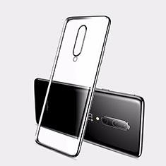 Silikon Schutzhülle Ultra Dünn Tasche Durchsichtig Transparent H01 für OnePlus 7 Schwarz