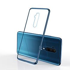 Silikon Schutzhülle Ultra Dünn Tasche Durchsichtig Transparent H01 für OnePlus 7T Pro 5G Blau