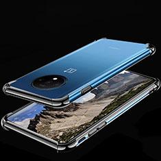 Silikon Schutzhülle Ultra Dünn Tasche Durchsichtig Transparent H01 für OnePlus 7T Schwarz