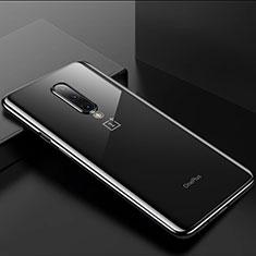 Silikon Schutzhülle Ultra Dünn Tasche Durchsichtig Transparent H01 für OnePlus 8 Schwarz