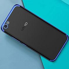 Silikon Schutzhülle Ultra Dünn Tasche Durchsichtig Transparent H01 für Oppo A71 Blau
