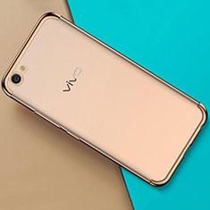 Silikon Schutzhülle Ultra Dünn Tasche Durchsichtig Transparent H01 für Oppo A71 Gold