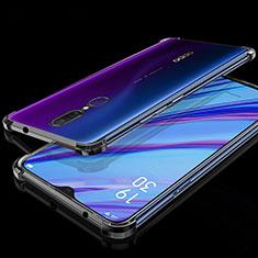 Silikon Schutzhülle Ultra Dünn Tasche Durchsichtig Transparent H01 für Oppo A9 Schwarz