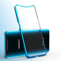 Silikon Schutzhülle Ultra Dünn Tasche Durchsichtig Transparent H01 für Oppo Find X Super Flash Edition Blau
