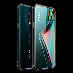 Silikon Schutzhülle Ultra Dünn Tasche Durchsichtig Transparent H01 für Oppo Realme X Schwarz