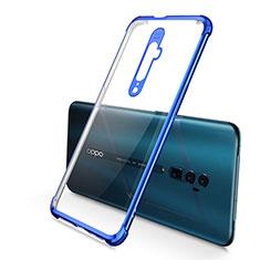 Silikon Schutzhülle Ultra Dünn Tasche Durchsichtig Transparent H01 für Oppo Reno 10X Zoom Blau
