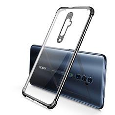 Silikon Schutzhülle Ultra Dünn Tasche Durchsichtig Transparent H01 für Oppo Reno 10X Zoom Schwarz
