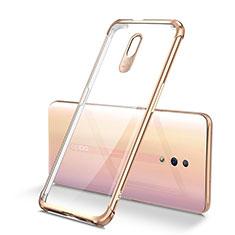 Silikon Schutzhülle Ultra Dünn Tasche Durchsichtig Transparent H01 für Oppo Reno Gold