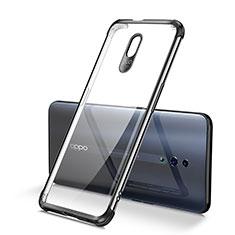 Silikon Schutzhülle Ultra Dünn Tasche Durchsichtig Transparent H01 für Oppo Reno Schwarz