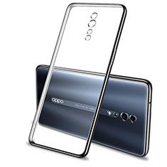 Silikon Schutzhülle Ultra Dünn Tasche Durchsichtig Transparent H01 für Oppo Reno Z Schwarz