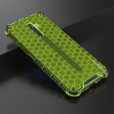 Silikon Schutzhülle Ultra Dünn Tasche Durchsichtig Transparent H01 für Oppo Reno2 Z Grün