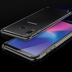 Silikon Schutzhülle Ultra Dünn Tasche Durchsichtig Transparent H01 für Samsung Galaxy A6s Schwarz