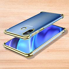 Silikon Schutzhülle Ultra Dünn Tasche Durchsichtig Transparent H01 für Samsung Galaxy A8s SM-G8870 Gold