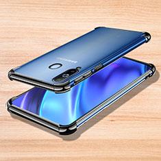 Silikon Schutzhülle Ultra Dünn Tasche Durchsichtig Transparent H01 für Samsung Galaxy A8s SM-G8870 Schwarz
