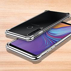 Silikon Schutzhülle Ultra Dünn Tasche Durchsichtig Transparent H01 für Samsung Galaxy A9s Silber
