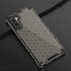 Silikon Schutzhülle Ultra Dünn Tasche Durchsichtig Transparent H01 für Samsung Galaxy Note 10 5G Schwarz
