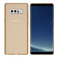 Silikon Schutzhülle Ultra Dünn Tasche Durchsichtig Transparent H01 für Samsung Galaxy Note 8 Duos N950F Gold