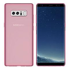 Silikon Schutzhülle Ultra Dünn Tasche Durchsichtig Transparent H01 für Samsung Galaxy Note 8 Rosa