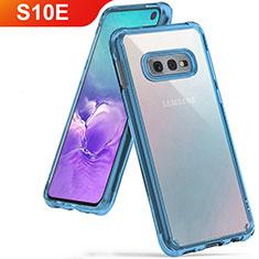 Silikon Schutzhülle Ultra Dünn Tasche Durchsichtig Transparent H01 für Samsung Galaxy S10e Hellblau