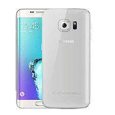 Silikon Schutzhülle Ultra Dünn Tasche Durchsichtig Transparent H01 für Samsung Galaxy S6 Edge+ Plus SM-G928F Grau