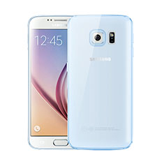 Silikon Schutzhülle Ultra Dünn Tasche Durchsichtig Transparent H01 für Samsung Galaxy S6 SM-G920 Blau