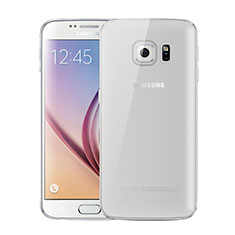 Silikon Schutzhülle Ultra Dünn Tasche Durchsichtig Transparent H01 für Samsung Galaxy S6 SM-G920 Grau