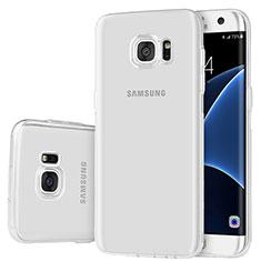 Silikon Schutzhülle Ultra Dünn Tasche Durchsichtig Transparent H01 für Samsung Galaxy S7 Edge G935F Klar