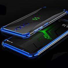 Silikon Schutzhülle Ultra Dünn Tasche Durchsichtig Transparent H01 für Xiaomi Black Shark Helo Blau