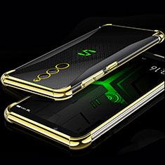 Silikon Schutzhülle Ultra Dünn Tasche Durchsichtig Transparent H01 für Xiaomi Black Shark Helo Gold