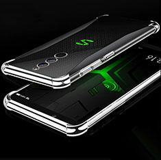Silikon Schutzhülle Ultra Dünn Tasche Durchsichtig Transparent H01 für Xiaomi Black Shark Helo Silber