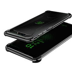 Silikon Schutzhülle Ultra Dünn Tasche Durchsichtig Transparent H01 für Xiaomi Black Shark Schwarz