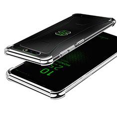 Silikon Schutzhülle Ultra Dünn Tasche Durchsichtig Transparent H01 für Xiaomi Black Shark Silber