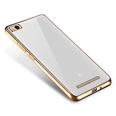 Silikon Schutzhülle Ultra Dünn Tasche Durchsichtig Transparent H01 für Xiaomi Mi 4i Gold