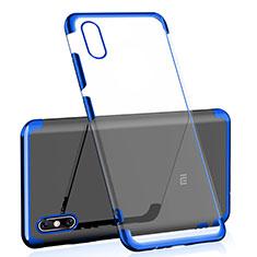 Silikon Schutzhülle Ultra Dünn Tasche Durchsichtig Transparent H01 für Xiaomi Mi 8 Explorer Blau