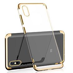 Silikon Schutzhülle Ultra Dünn Tasche Durchsichtig Transparent H01 für Xiaomi Mi 8 Explorer Gold