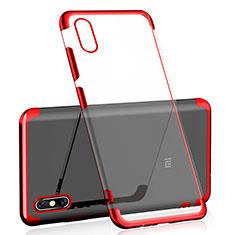 Silikon Schutzhülle Ultra Dünn Tasche Durchsichtig Transparent H01 für Xiaomi Mi 8 Explorer Rot
