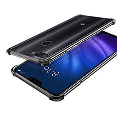 Silikon Schutzhülle Ultra Dünn Tasche Durchsichtig Transparent H01 für Xiaomi Mi 8 Lite Schwarz