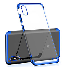 Silikon Schutzhülle Ultra Dünn Tasche Durchsichtig Transparent H01 für Xiaomi Mi 8 Pro Global Version Blau