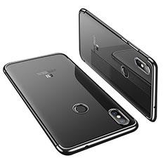 Silikon Schutzhülle Ultra Dünn Tasche Durchsichtig Transparent H01 für Xiaomi Mi 8 Schwarz