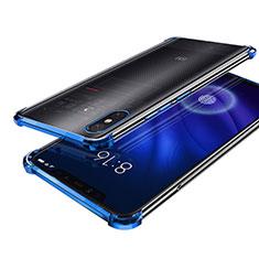 Silikon Schutzhülle Ultra Dünn Tasche Durchsichtig Transparent H01 für Xiaomi Mi 8 Screen Fingerprint Edition Blau