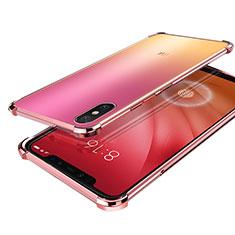 Silikon Schutzhülle Ultra Dünn Tasche Durchsichtig Transparent H01 für Xiaomi Mi 8 Screen Fingerprint Edition Rosegold