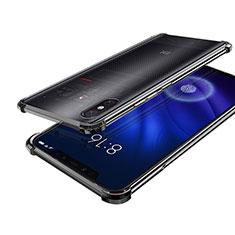 Silikon Schutzhülle Ultra Dünn Tasche Durchsichtig Transparent H01 für Xiaomi Mi 8 Screen Fingerprint Edition Schwarz