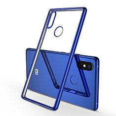 Silikon Schutzhülle Ultra Dünn Tasche Durchsichtig Transparent H01 für Xiaomi Mi 8 SE Blau